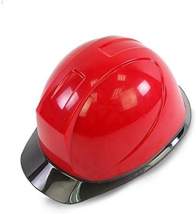 XINGZHE 建設ヘルメット - キャップスタイルのハードハット調整可能なラチェット6 Ptサスペンションハード非換気ハット調節可能なヘルメットABSエンジニアリングヘルメ 安全ヘルメット (Color : Red)