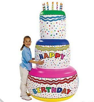 Fabulous Giant 6 Ft Inflatable Birthday Cake By Bunco Game Shop Amazon Co Funny Birthday Cards Online Alyptdamsfinfo
