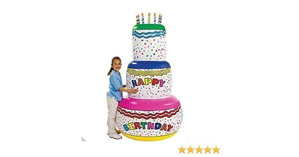 Amazon Giant 6 Ft Inflatable Birthday Cake Toys Games