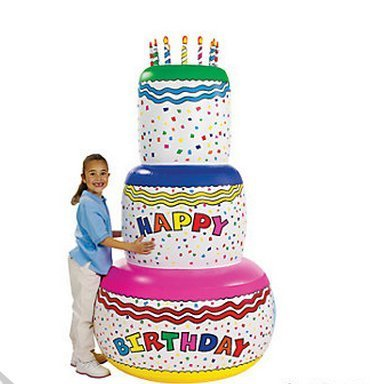 Amazon Giant 6 Ft Inflatable Birthday Cake Toys Games
