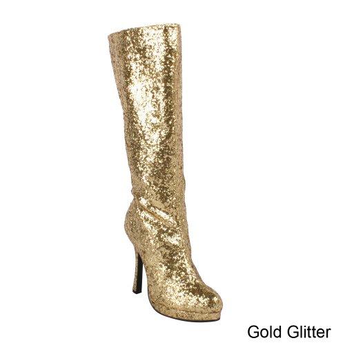 Ellie Shoes Women's 421-Zara Boot Gold Glitter