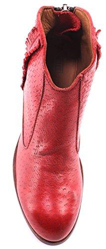 Zapatos Mujeres Botines MOMA 32702-PD Pecary Rosso Vintage Cuero Rojo Nuevo ITA