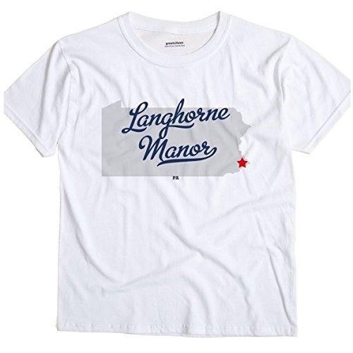 Langhorne Manor Pennsylvania PA MAP GreatCitees Unisex Souvenir T - Langhorne Map Pa