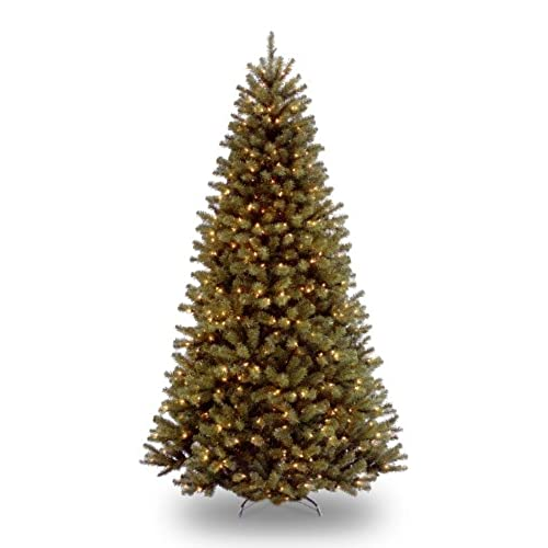 national tree 75 foot north valley spruce tree with 550 clear lights hinged nrv7 300 75 - Pre Lit Christmas Trees Amazon