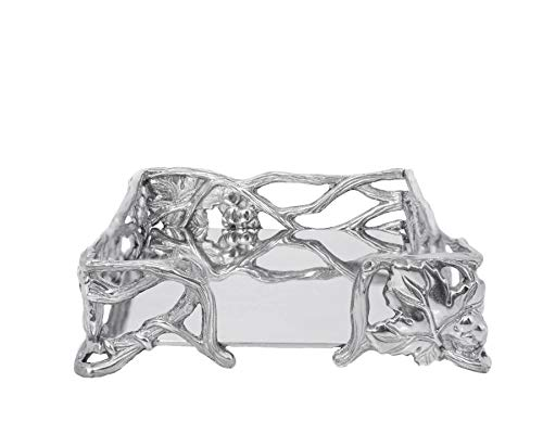 Arthur Court Designs Aluminum Grape Napkin - Napkin Cocktail Box Grape