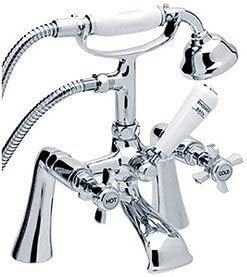 Traditional Bath Shower Mixer Tap Including Hose /& Handset by TIME
