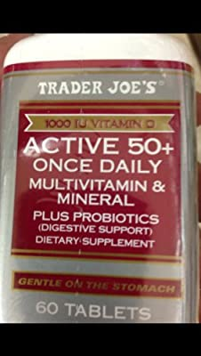 Trader Joe's Active 50+ Once Daily Multivitamin & Mineral