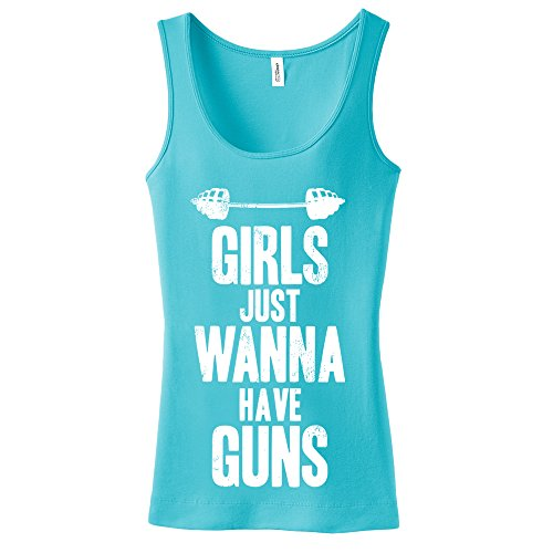 (mintytees keepin' It Fresh Girls Just Wanna Have Guns Ladies Tank Top Workout Fitness)