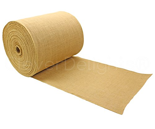 cleverdelights-14-premium-burlap-roll-100-yards-no-fray-finished-edges-natural-jute-burlap-fabric