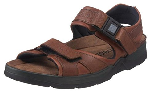Mephisto Mens Shark Fit Leather Sandals marrón