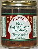 Pear Cardamom Chutney with fresh pears,orange peel and cashews, 6 Jars