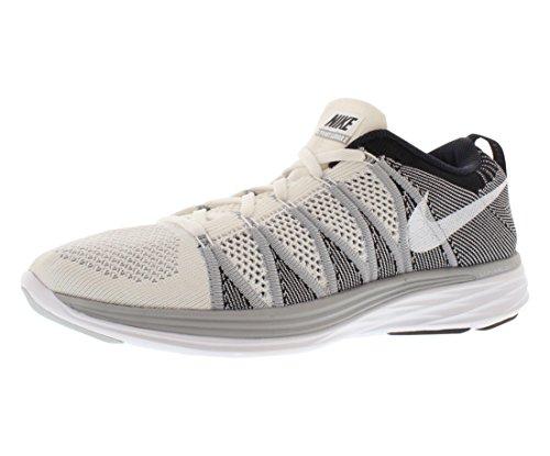 Nike Flyknit Lunar2 - Zapatos para mujer white wolf grey black 100