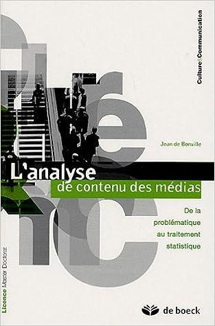 Livres gratuits en ligne L'analyse de contenu des médias : De la problématique au traitement statistique epub, pdf