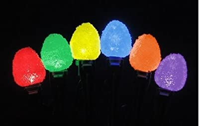 Sugar Coated LED Gumdrop Christmas Light Strand - Set of 50 Lights