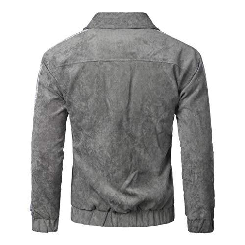 Resplend Hombre Primavera Otoño Invierno Casual Slim Bomber Jacket Botton Outwear: Amazon.es: Ropa y accesorios
