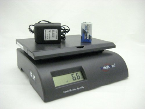 Weighmax Capacity Postal Shipping Scale, Battery and AC Adapter Included, Gray (W-2822-75-GRAY)