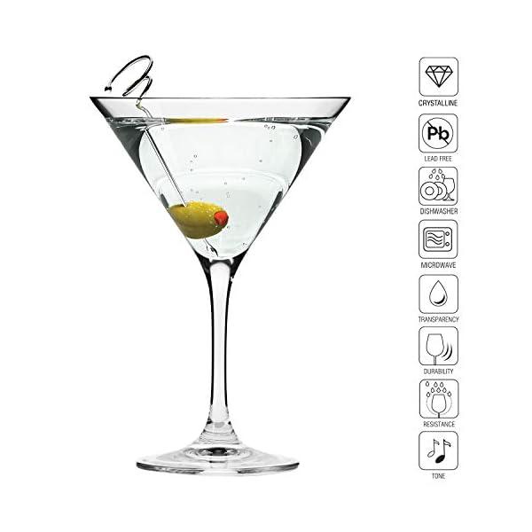 Krosno Bicchieri Cocktail Martini Bar Vetro Coppa | Set di 6 | 150 ML | Elite Collection | Ideale per la casa… 3 spesavip