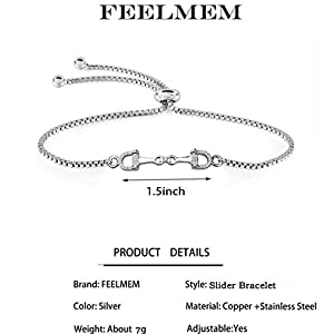 FEELMEM Horse Snaffle Bit Plated Cubic Zirconia Crystal Easy Hook Clasp Charm Bangle Bracelet Equestrian Jewelry Good Luck Gift for Horse Lover Girl Woman Teen