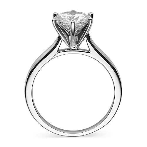 Forever Classic Round 6.0mm Moissanite Engagement Ring-size 8, 0.80ct DEW By Charles & Colvard by Charles & Colvard (Image #1)