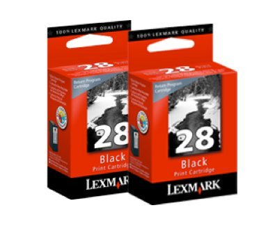 Lexmark 28 Black Twin Pack 18C1570KIT Genuine OEM New In Full Retail Packaging