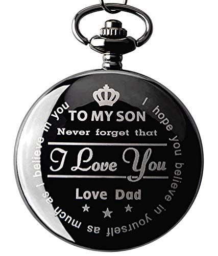 From Father to Son Xmas Gifts From a Father to a Son Pocket watch with Chain