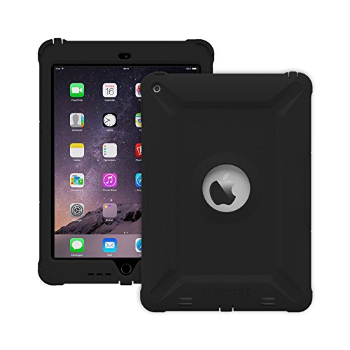 Apple Ipad Air 2, Trident Case [Strong Defense] Anti-microbial, Strengthened, Impact-resistant, Robust, Slim and Tough Build, Grip, Anti-skid, Black by Trident Case (Image #1)