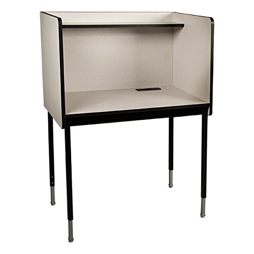 (Learniture LNT-TIR1032-SO Adjustable-Height Study Carrel, Starter Unit, 47-53