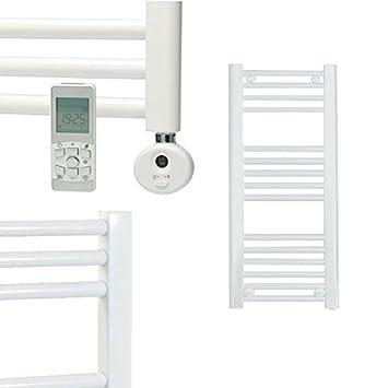 Sol-Aire - Toallero eléctrico con radiador (400 x 800 mm, recto y