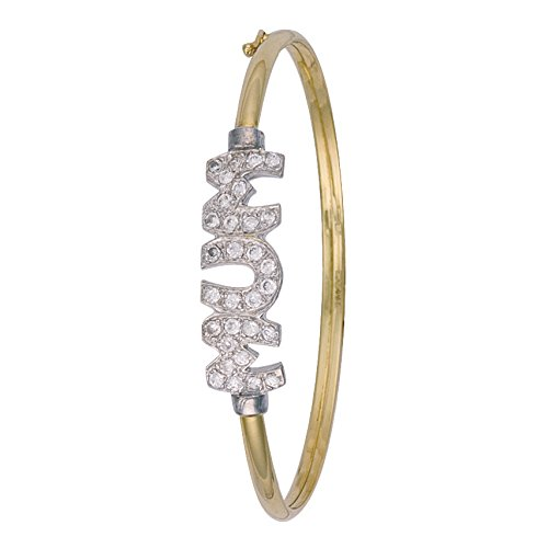 9ct or jaune CZ Maman Bracelet 5.9G