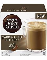 NESCAFÉ DOLCE GUSTO Café au Lait Intenso Coffee Pods, 16 Capsules (Pack of 3 - Total 48 Capsules, 48 Servings)