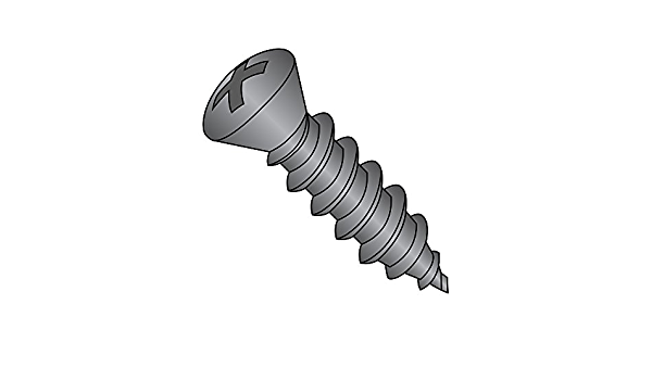 Type AB 82 degrees Flat Head Zinc Plated Finish 1-1//2 Length #6-20 Thread Size Phillips Drive Pack of 6000 Steel Sheet Metal Screw