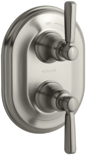 (KOHLER K-T10594-4-BN Bancroft Stacked Thermostatic Trim, Vibrant Brushed Nickel )