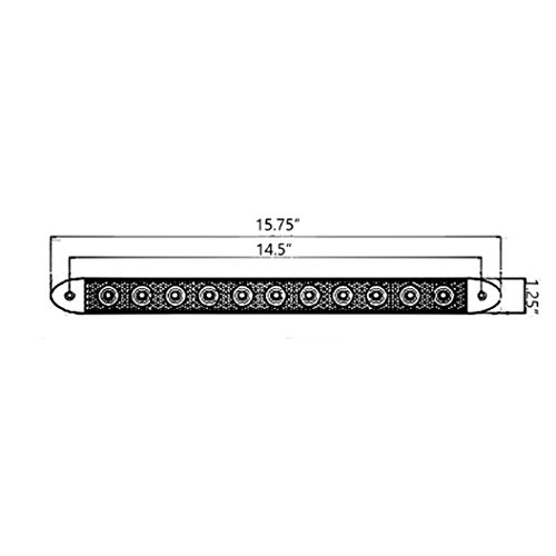 Leading Edge Lighting LETS-10/12-16020 Trailer Light Set, Two Stop Turn Tail Lights with Matching ID Bar, Waterproof, Warranty