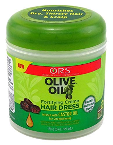 Oil Fortifying ([PACK OF 3] ORS Olive Oil Fortifying Crème Hair Dress 6OZ (package may vary))