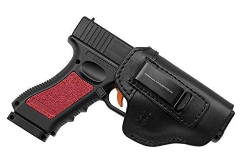 MAYMOC Leather IWB Holster | Fits Glock 17 19 22 23 32 33 36 43, S&W M&P Shield, Springfield XD-S, Kel-Tec PF-9, Beretta 92FS, Sig Sauer P228 and All Similar Firearms