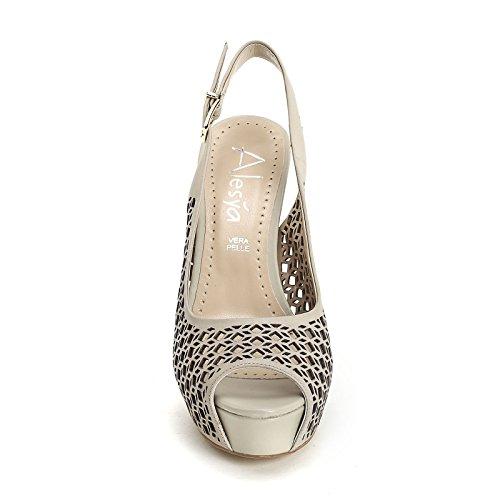 ALESYA by Scarpe&Scarpe - Sandalias altas con grabado láser Beige