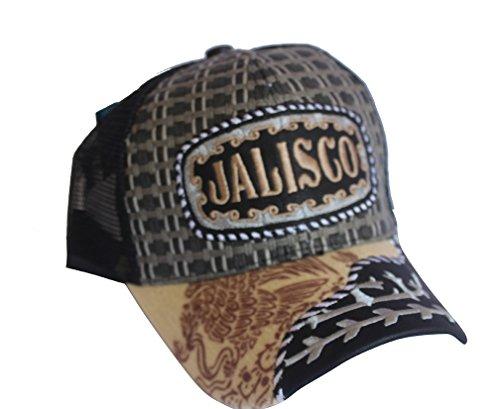 ab2c4943021 Rob sTees Jalisco Felt Bill Gorra Charra De Woven Mexico Flag Palma Mesh  Straw Trucker