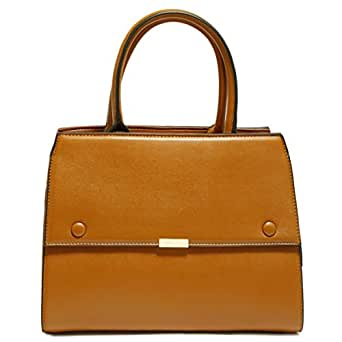 Dilaks 26071 Satchel Bag for Women - Synthetic, Brown