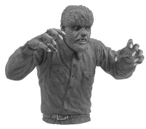 Diamond Select Toys Universal Monsters: Wolfman Black and White Bust Bank