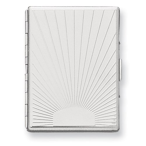 (Nickel-plated Etched (Holds 20-100mm) Cigarette/Card Case)