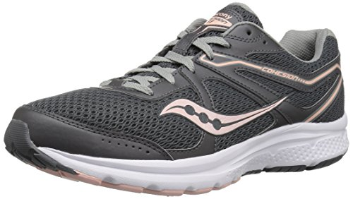 Saucony Women's Cohesion 11 Sneaker Charcoal/Peach