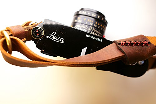 Henri by Eric Kim Handmade Premium Leather Camera Shoulder Strap (Crema - Olympus 3rds Micro Camera 4