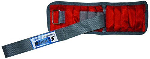 0.2 Lb Weight - the Cuff 10-3341-2 Adjustable Cuff Wrist with Inserts, 4 lb-20 x 0.2 lb, Red