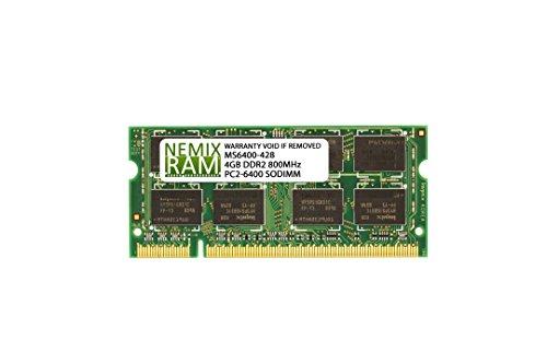 4GB (1x4GB) DDR2 800MHz PC2-6400 Single Stick 200-pin SODIMM Laptop Memory RAM 2Rx8 (Single Mhz 800)