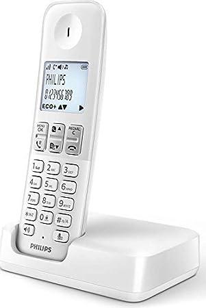 Philips D2353W - Teléfono (DECT, 100-240, 50 y 60, AAA, Polifónico), Color Blanco (Importado): Amazon.es: Electrónica