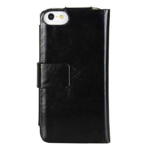 Melkco Tera Cotto Etui en cuir pour Apple iPhone 5 Noir vintage