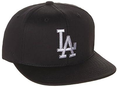 American Needle MLB Los Angeles Dodgers Snapback Hat Cap - 2 Tone Black Grey