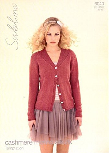 8b63b0a65dec Sublime Cashmere Merino Silk DK Ladies Cardigan Knitting Pattern ...