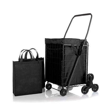 3-Wheel Stair-Climbing Folding Cart with Nylon Liner
