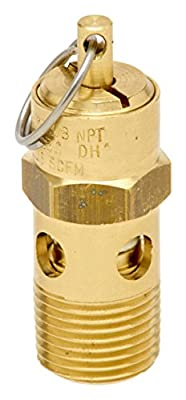 Control Devices ST2533-1A060 ST Series Brass Soft Seat ASME Safety Valve, 60 psi Set Pressure, 3/8 Male NPT from Control Devices